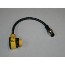 12(in) 90Deg. Auto. QD Sensor, Beam, w/ Pigtail