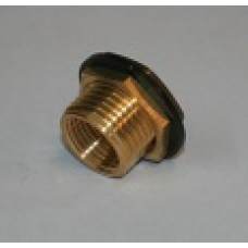 Brass Fitting w/Rubber Washer for Overflow Drain (25pk)