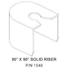 90 Degree x 90 Degree Solid Riser